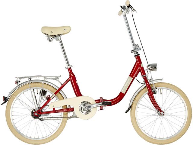 "Ortler Fast Rocket Hopfällbar cykel 20"" röd"